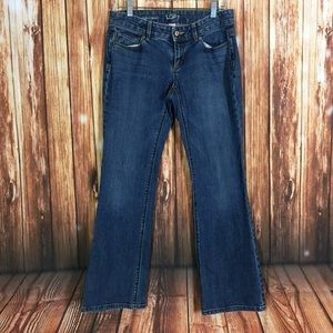 LOFT Ann Taylor 4 Petite Curvy Boot Mid Cut Jeans